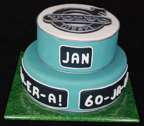Volvo birthday cake | I made this 2 tier birthday cake to ac… | Flickr