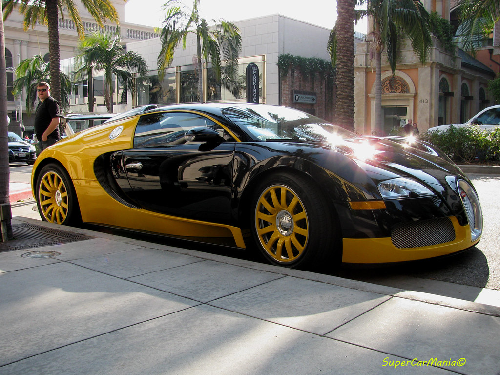 black and yellow bugatti veyron beverly hills los angeles flickr. Black Bedroom Furniture Sets. Home Design Ideas