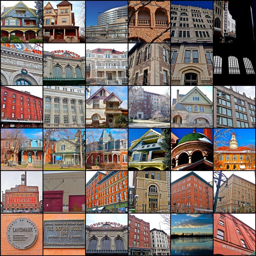 Masonic Temple Building Denver Colorado: Mosaic 3: Set: National Registry Of Historic Places In Den