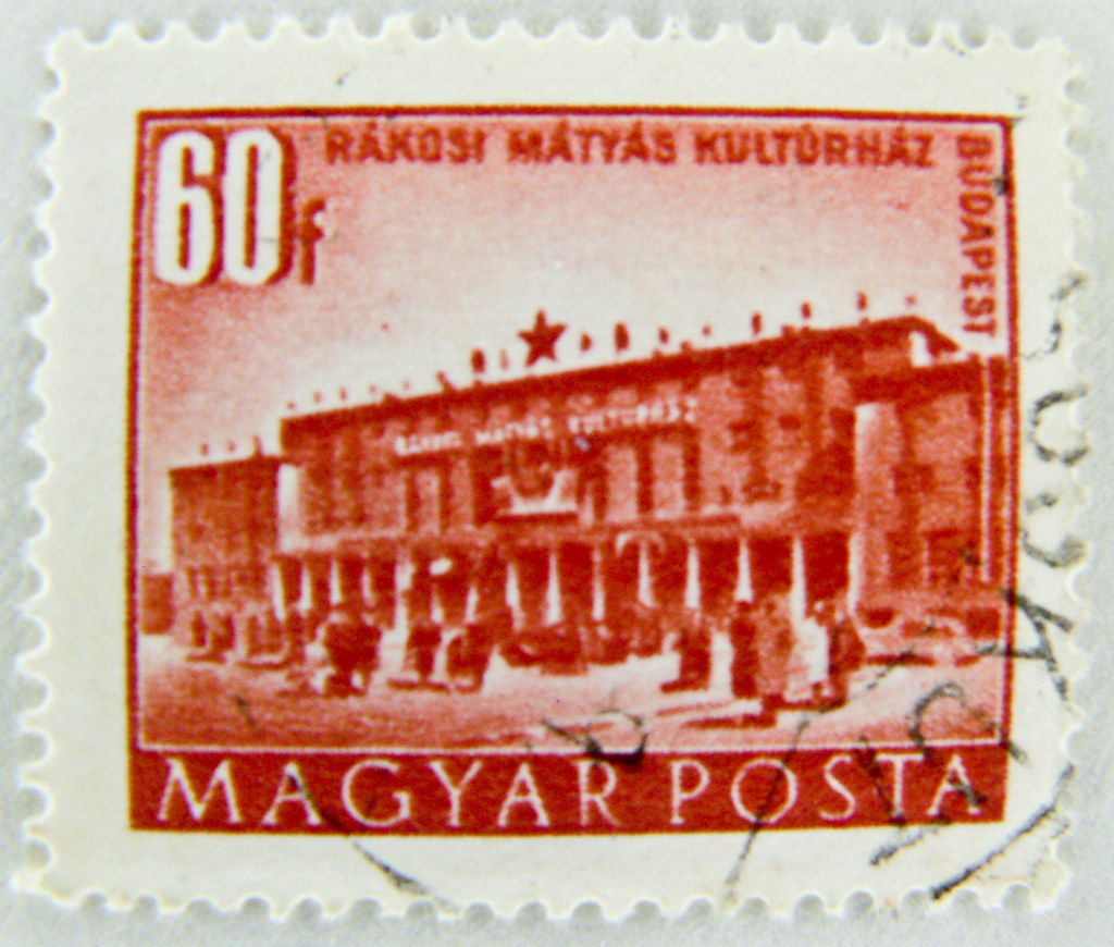 Hungary - circa 1973: stamp printed by hungary, shows icon angels playing violin and lute, circa 1973, stock photo