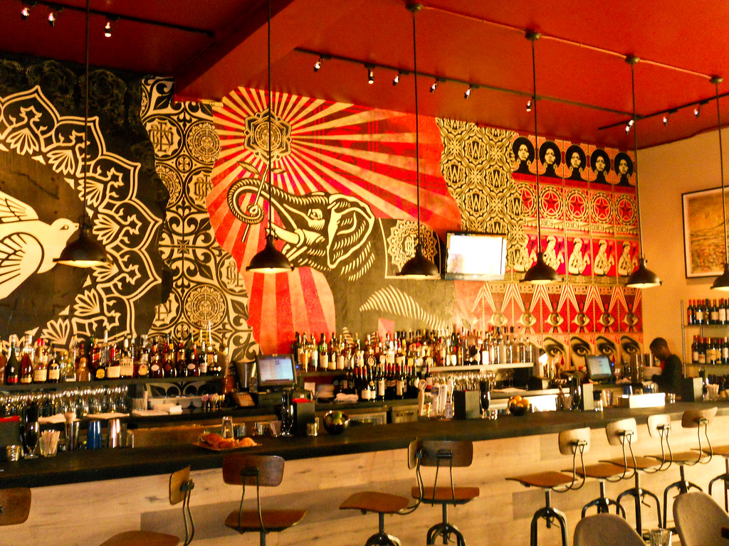 Shepard fairey obey giant at wynwood kitchen bar inte
