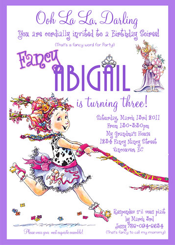 Fancy Nancy- Custom Birthday Invitation | www.artfire.com ...