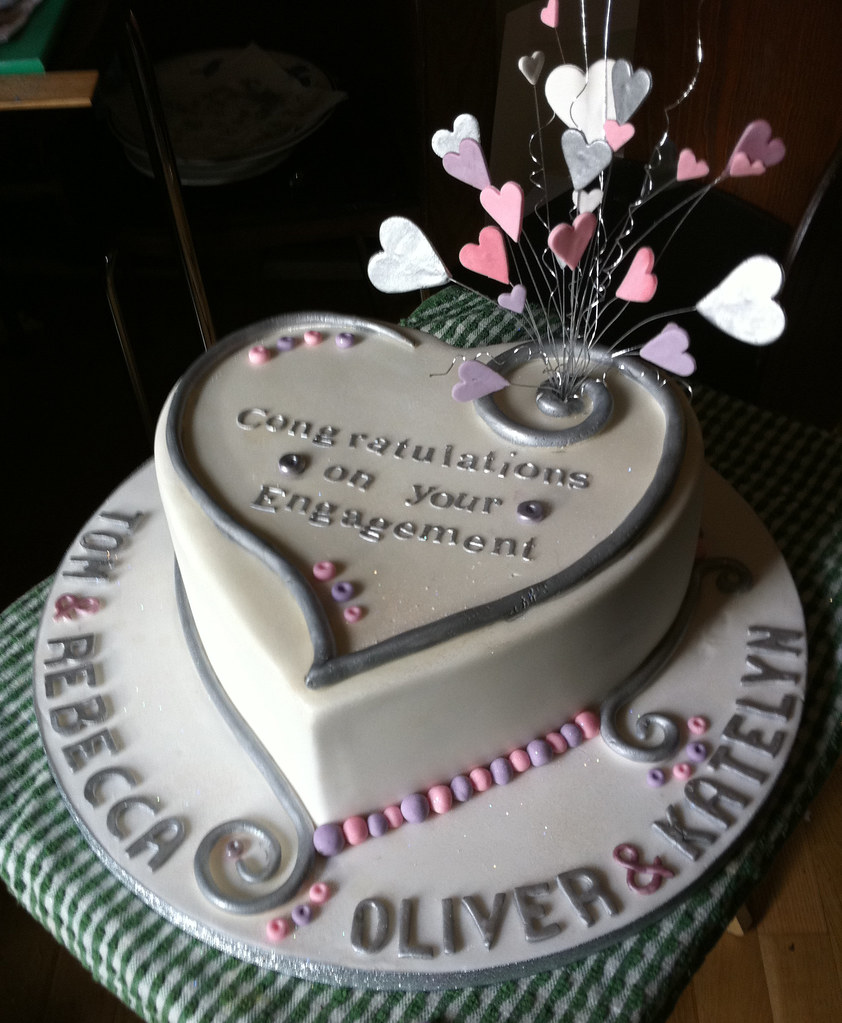 Heart Double Engagement Cake Chocolate Mud Cake For Two