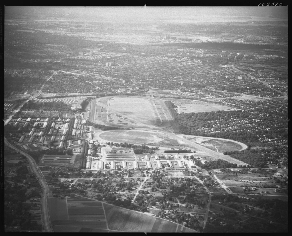 Belmont Park Race Track Elmont New York Aerial View Of