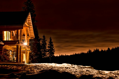 Night Cabin in Priddis | by Christopher J Martin