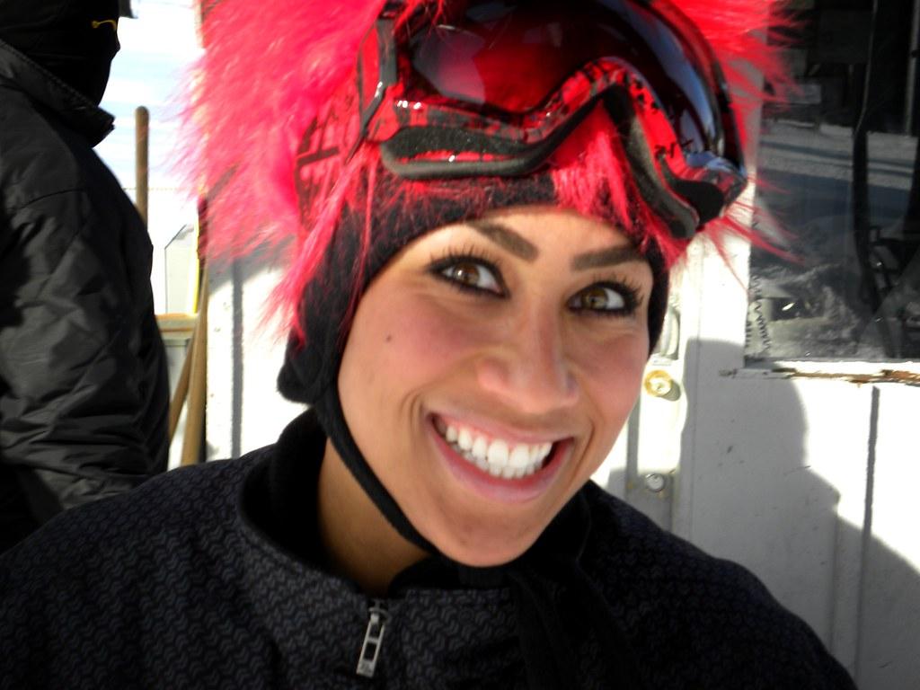 """Jan. 22, 2011 - Nicole """"Hoopz"""" Alexander went snowboarding ..."""