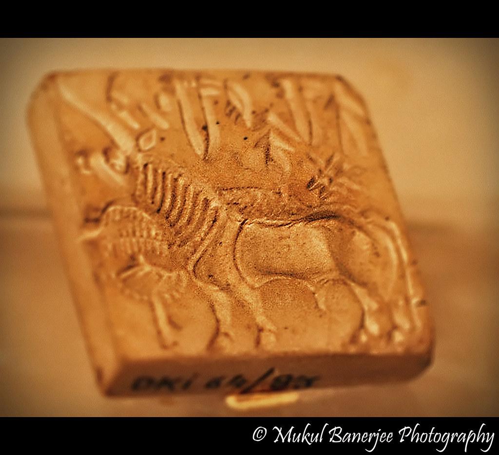 Unicorn Seal Harappa Indus Valley Civilization Stamp