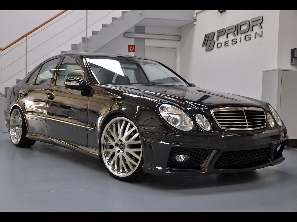 mercedes e class w211 full body kit front bumper and side flickr. Black Bedroom Furniture Sets. Home Design Ideas