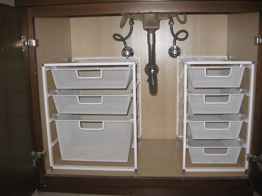 Under sink bathroom storage