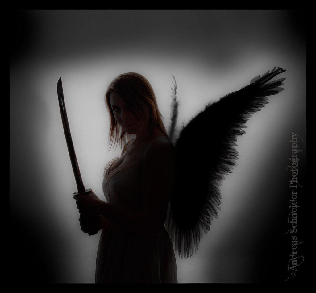 Dark angel silhouette | From the darkness.... 250W strobes w ...
