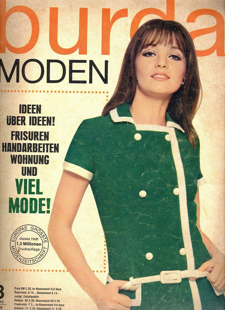 Burda March 1966 German Fashion Magazine Burda Moden March Fashion Covers Magazines Second