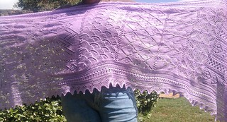 complete shawl stretched out.. | by jjabie