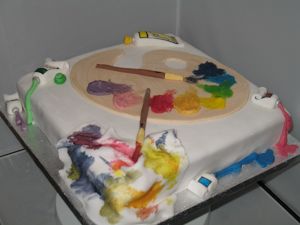 artist cake Bernard McKeaveney Flickr