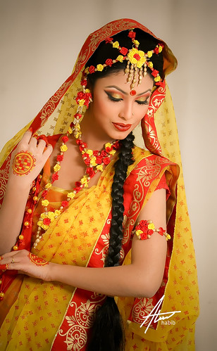 Bridal Traditional Bengali Bride During Quot Gaye Holud