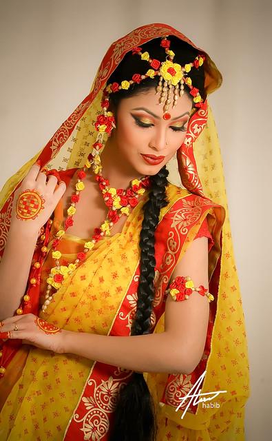 Bridal  Traditional Bengali Bride During U0026quot;Gaye Holudu2026 | Flickr - Photo Sharing!