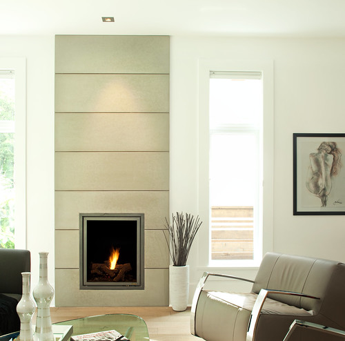 Solus 16 x 48 wall tiles contemporary fireplace flickr for Large modern fireplaces