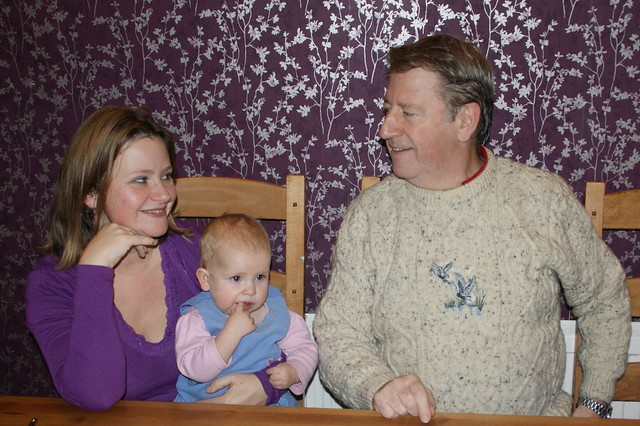 Anna's birthday - Dad, Amaia and I