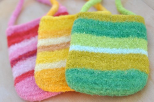felted iphone purses | by waldorf mama