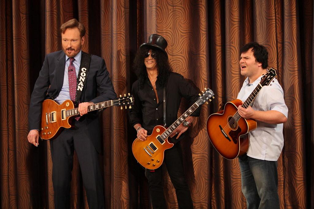 Conan, Slash, & Jack Black | Conan O'Brien, Jack Black and ... Slash