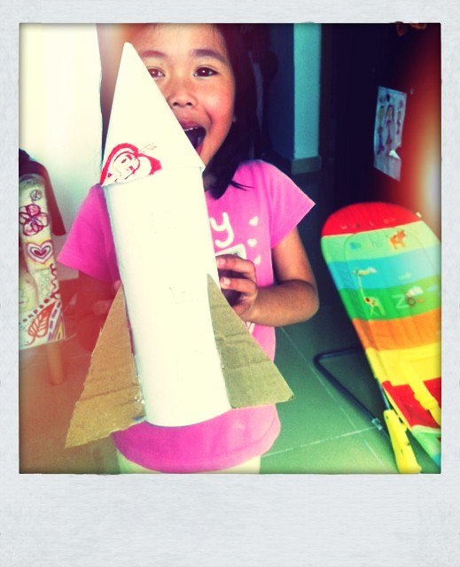 Water Bottle Rocket Craft: Holiday Craft Day 2/12 : Mineral Water Bottle Rocket