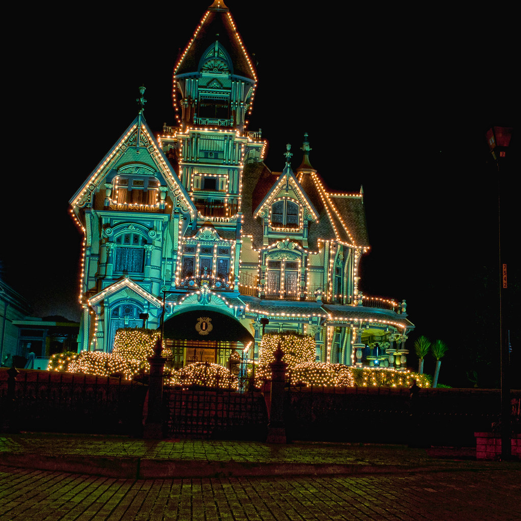 Christmas house decorations - Carson Mansion Hdr My First Hdr Attempt Used 3 Bracketed