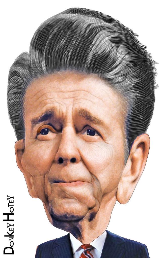 ronald reagan caricature ronald wilson reagan 40th