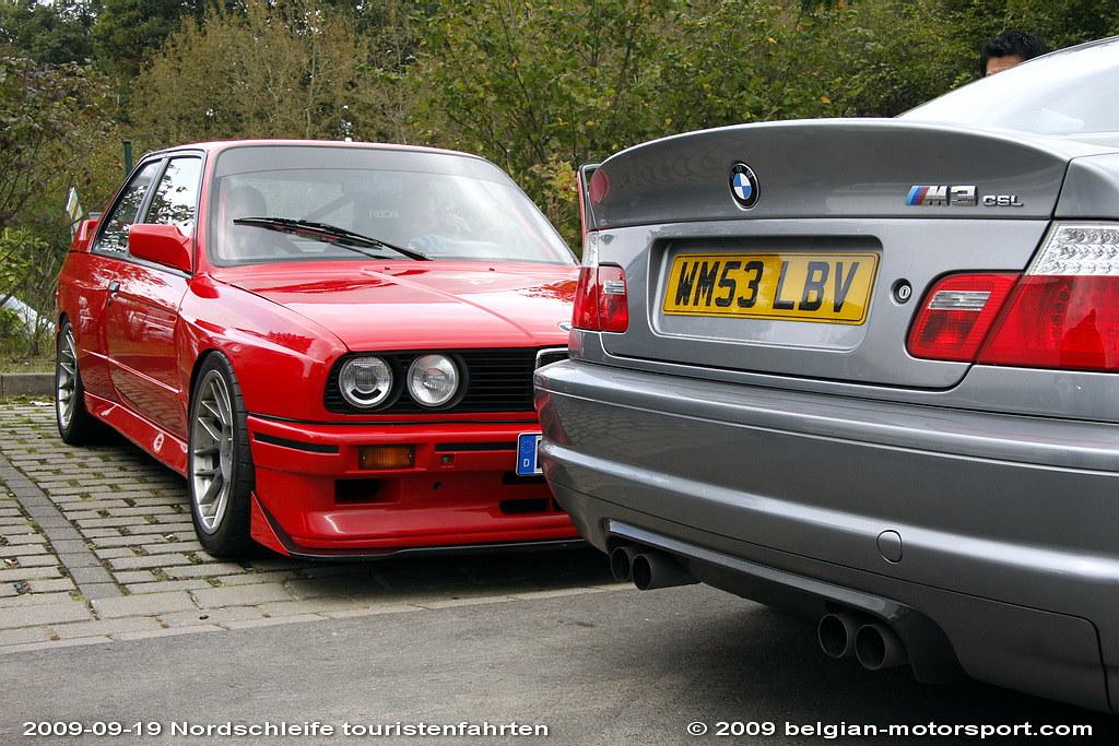 M3 E30 Bmw >> BMW E30 M3 BMW E46 M3 CSL   grandfather and grandson   Flickr