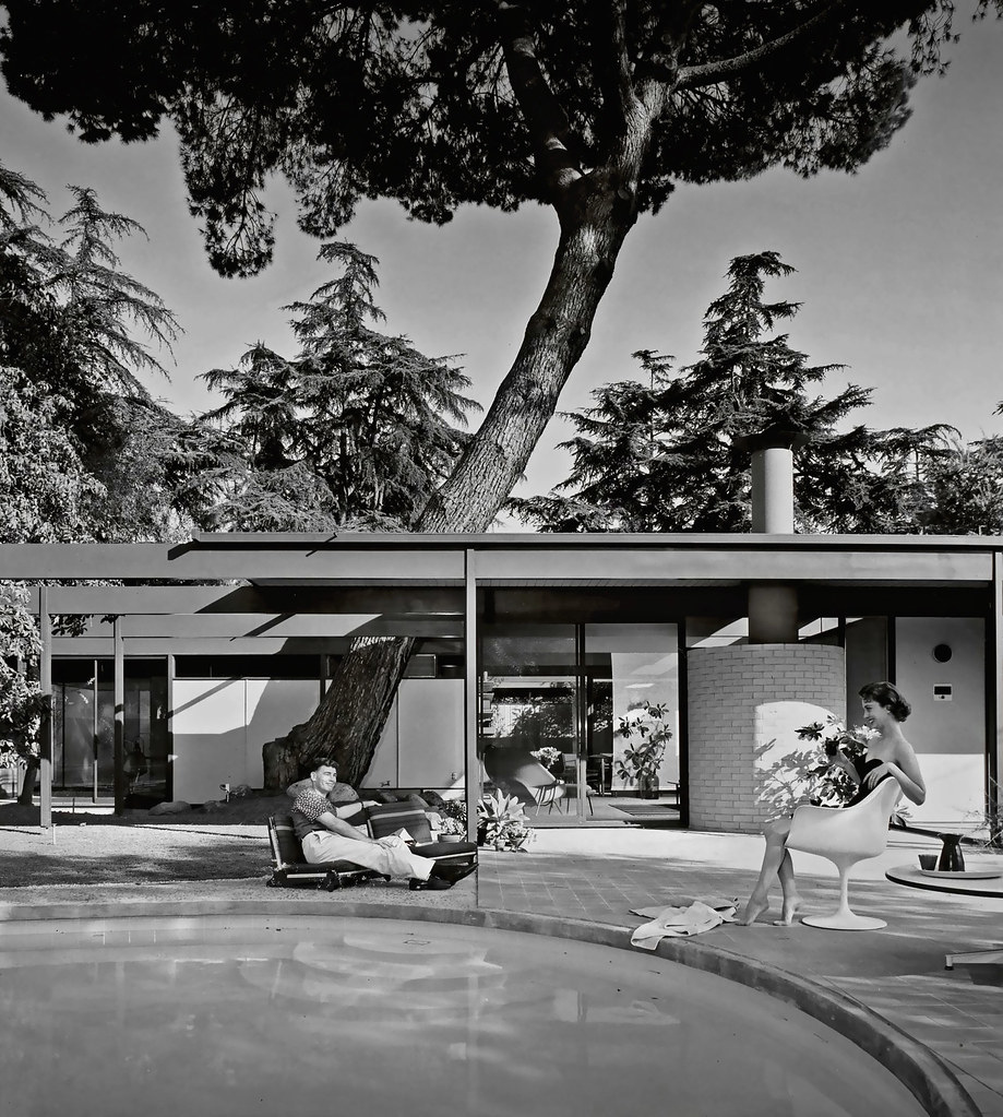 1958 case study house 20 bass house architects c for Classic house bass