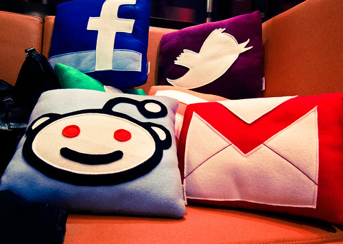social media icon pillows