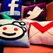 Facebook, Twitter, Reddit, Gmail Social Media Pillows
