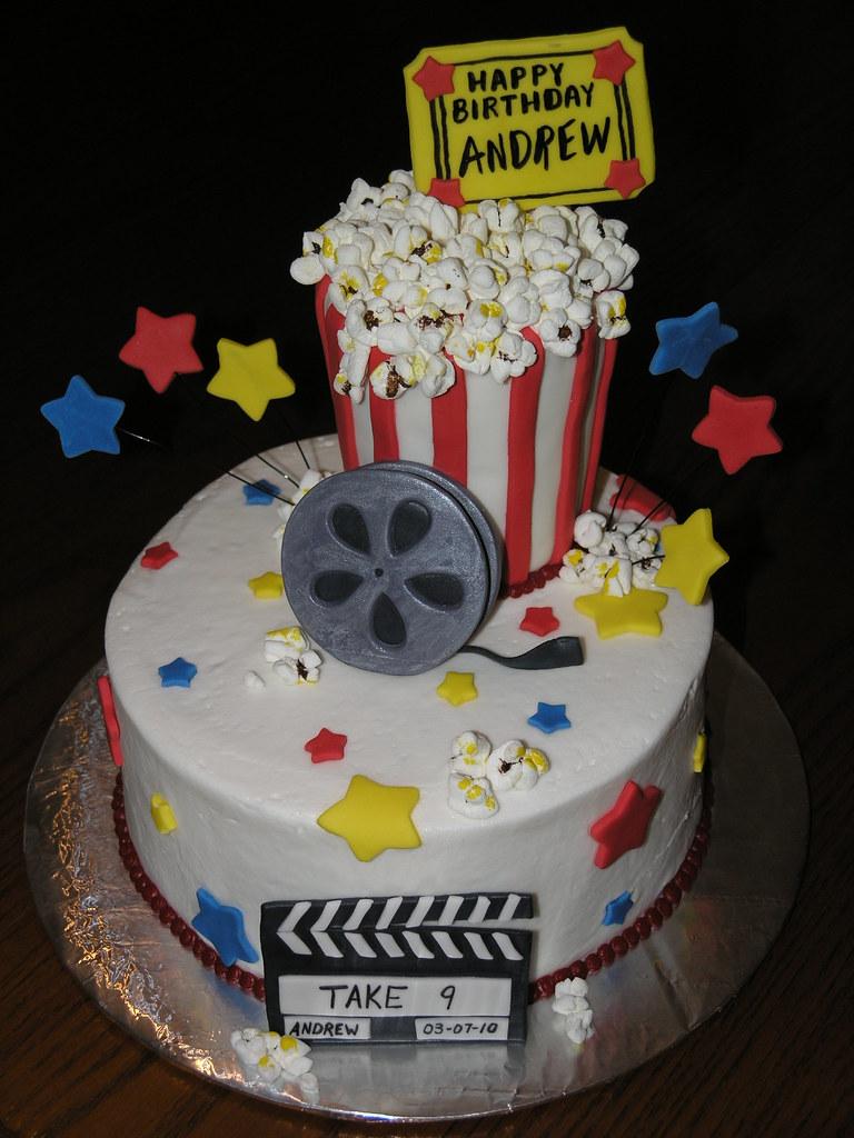 Movie Theatre Themed Birthday Cakes