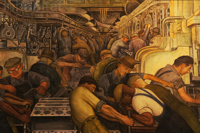 Diego rivera mural at the detroit institute of arts for Diego rivera detroit mural