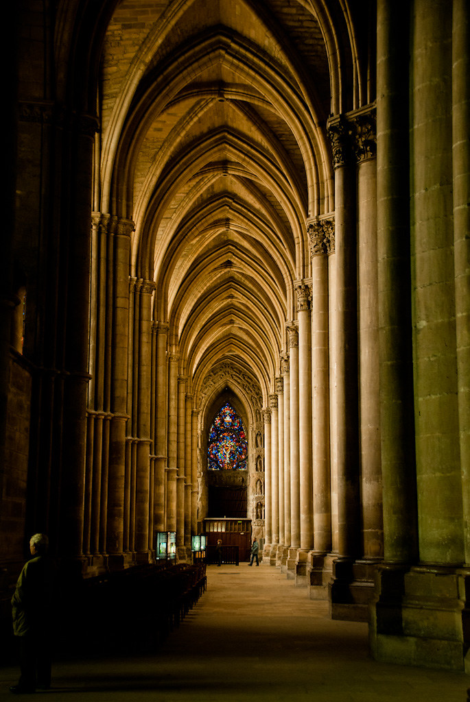 in an aisle of the notre dame de reims the light striking flickr. Black Bedroom Furniture Sets. Home Design Ideas