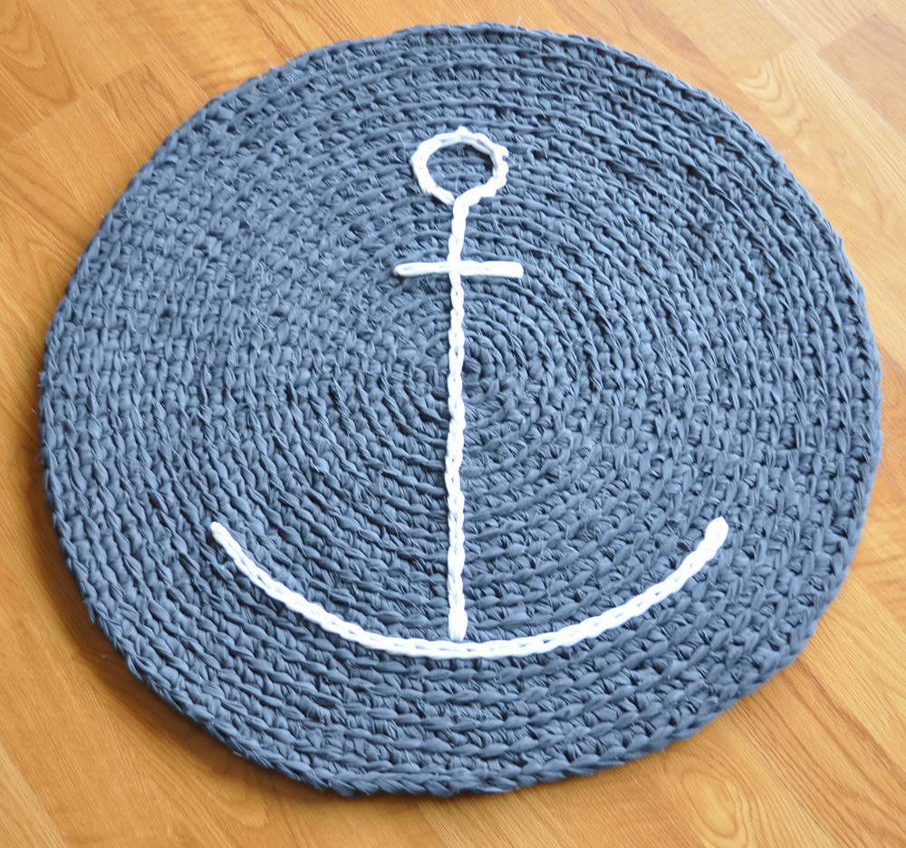 Anchor Rugs: Crocheted With Fabric Mill Ends