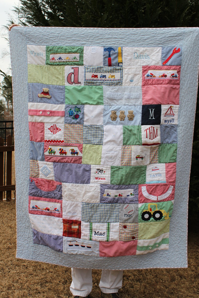 Memory Quilt   This was a commissioned quilt made with the ...