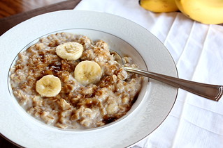 banana bread oatmeal | by pastryaffair