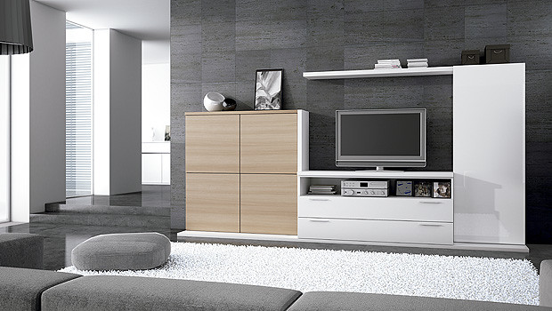 Muebles modernos de sal n comedor lun catalogo de for Catalogo muebles modernos