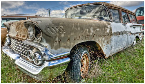 1958 Chevrolet wagon HDR Topaz | by hz536n/George Thomas