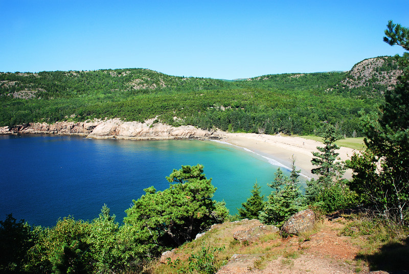Sand Beach Maine Acadia National Park Sand Beach Was