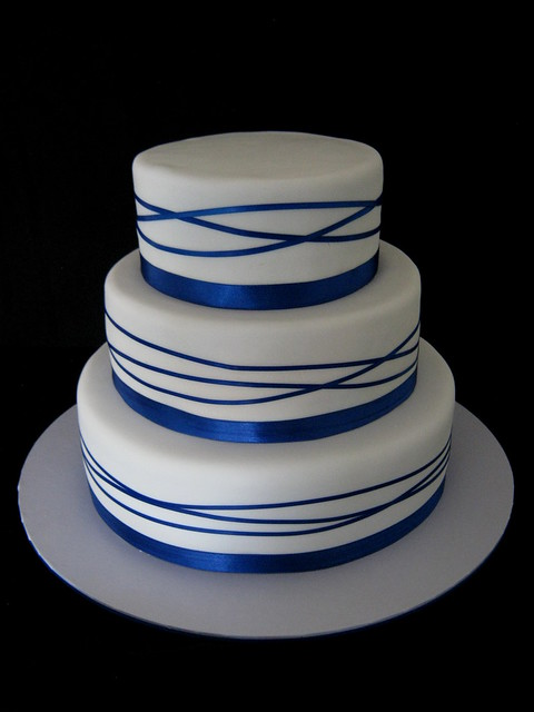 Royal Blue Cake Images : Royal Blue Wrapped Ribbon Wedding Cake Flickr - Photo ...