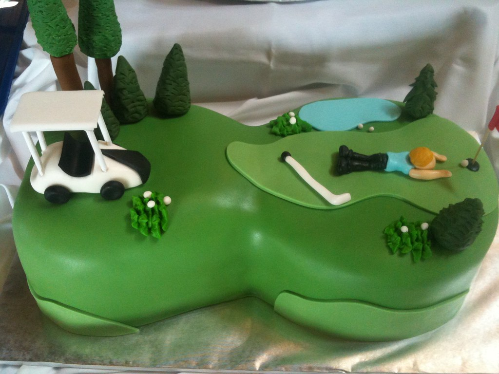 golf-course-cake DPasteles Cake Shop Flickr
