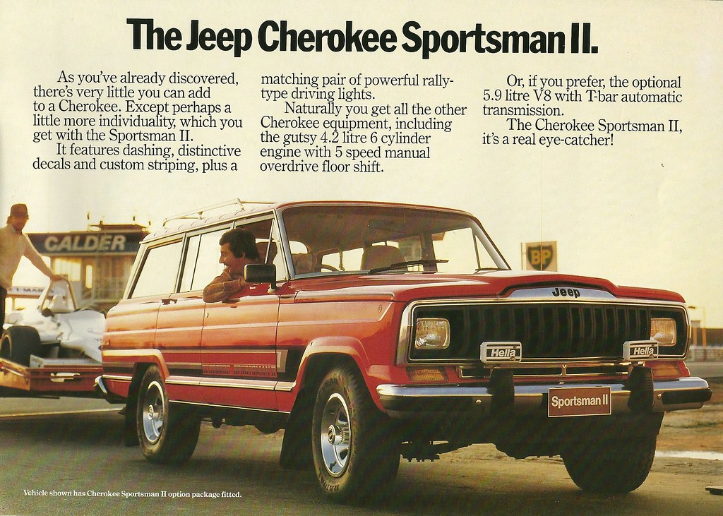 Jeep Cherokee Sportsman Ii Right Hand Drive Cherokee As