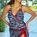 Free Matching Sarong! Pelligrino Wrap Sheath Plus Size Swimwear by YBL®