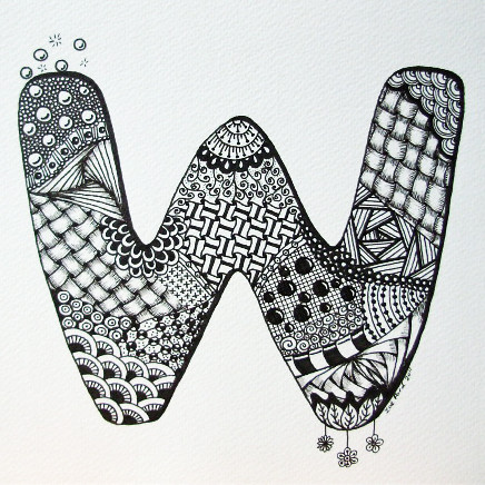 Letter W Zendoodle C ZFord