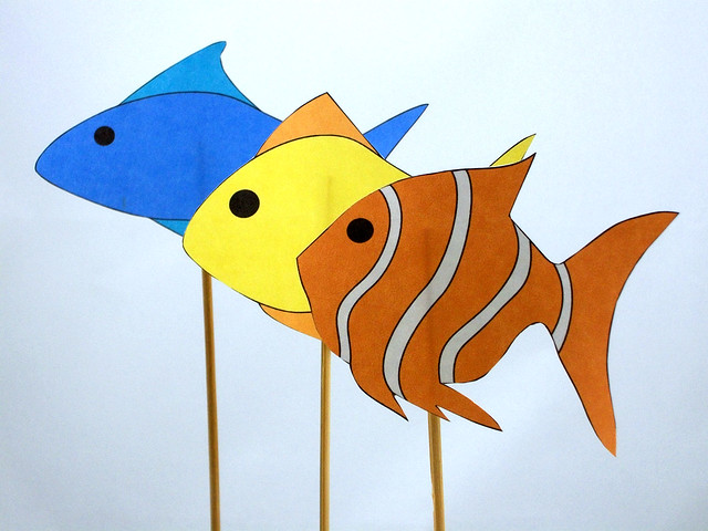Fish stick puppets flickr photo sharing for Fish on a stick