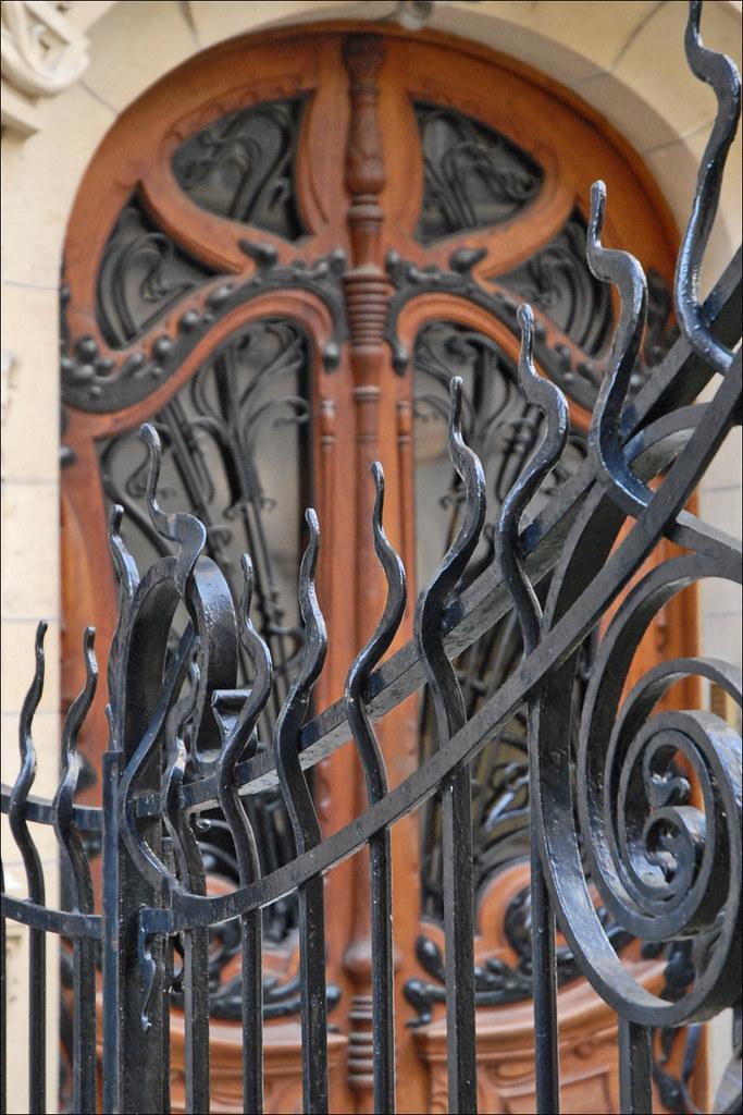 Grille Et Porte D Entr 233 E Art Nouveau Jules Lavirotte