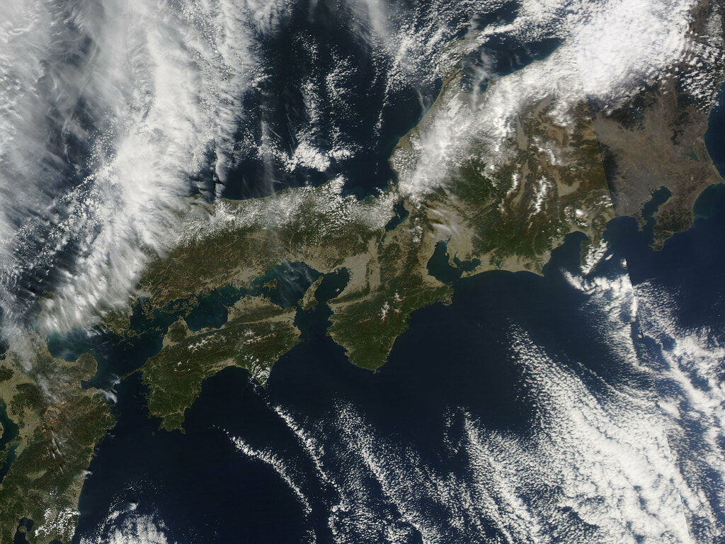 Nasa Satellite View Of Japan Captured March 5 2011 Flickr