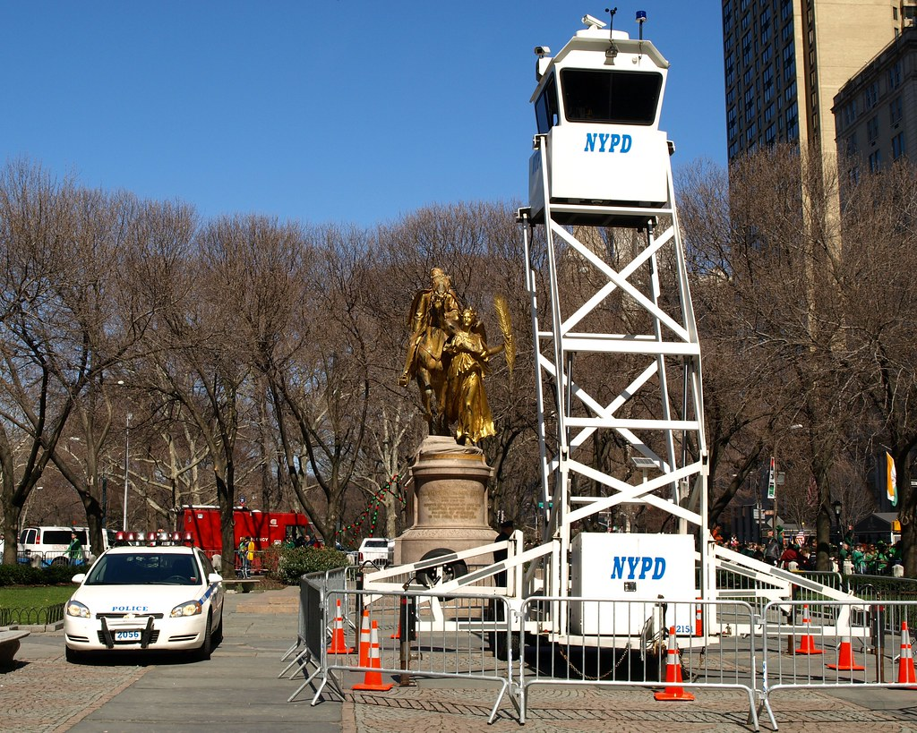 Nypd Mobile Observation Tower Grand Army Plaza New York