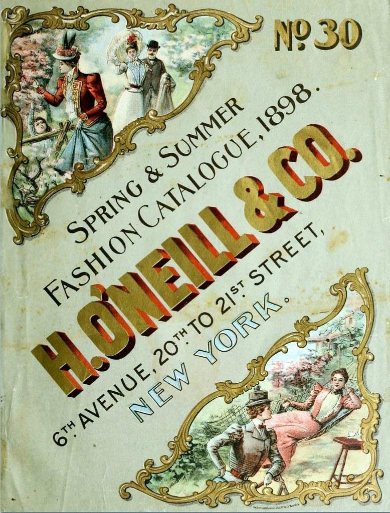 1898 vintage fashion h o 39 neill co of new york catalog. Black Bedroom Furniture Sets. Home Design Ideas