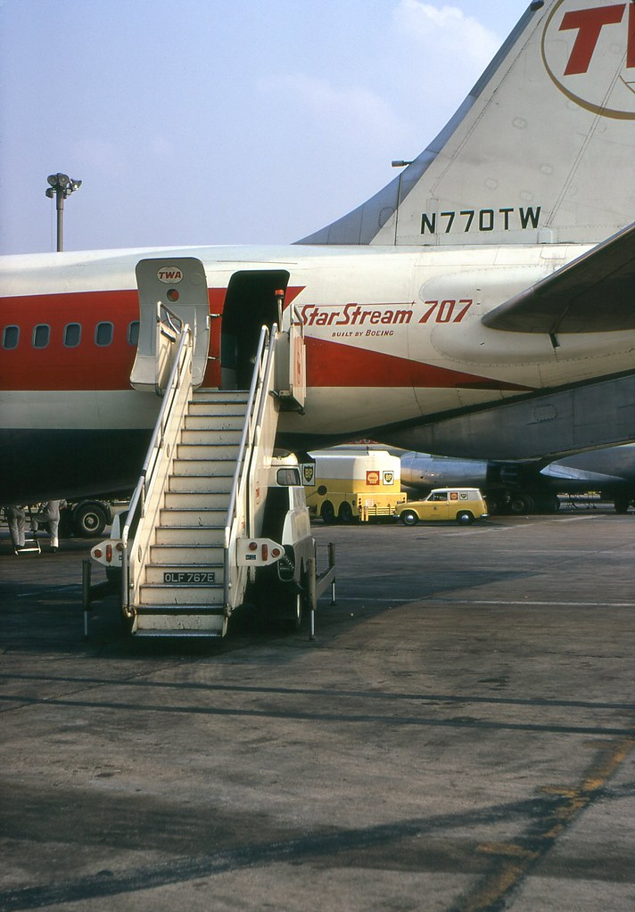 Economy Or Coach End Twa 707 The Entrance To My